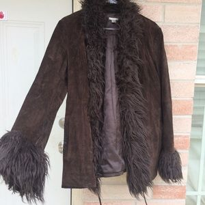 Jackets & Blazers - Real leather suede And faux fur Penny Lane Jacket